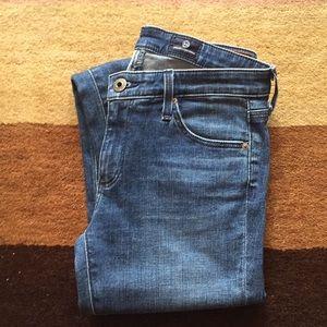 AG Skinny Ankle Zip Leggings Jeans